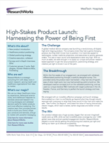 High Stakes Product Launch